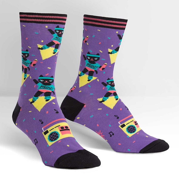 Cat-ercise Meow Crew Socks by Sock It to Me : Cats Like Us