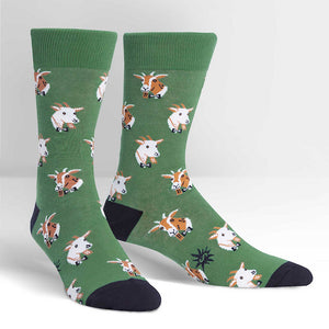 Dapper Goats Crew Socks by Sock It to Me : Cats Like Us