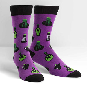 Drink Me Mens Crew Socks by Sock It to Me : Cats Like Us