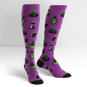 Drink Me Poison Knee Socks by Sock It to Me : Cats Like Us