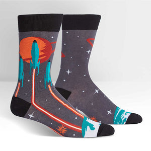 Launch From Earth Crew Socks by Sock It to Me : Cats Like Us