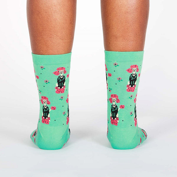 Punk Poodle Crew Socks by Sock It to Me : Cats Like Us
