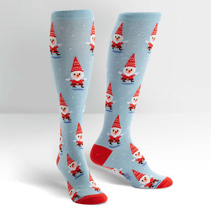 Santa Gnome Knee Socks by Sock It to Me : Cats Like Us