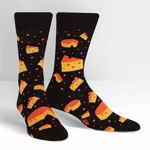 Space Cheese Crew Socks
