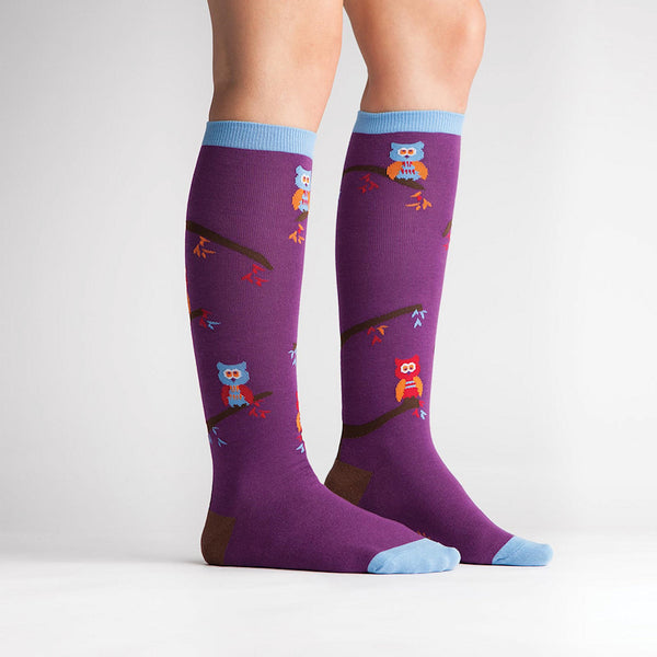 Sock It to Me Tree Owl Knee Socks for sale at Cats Like Us - 3