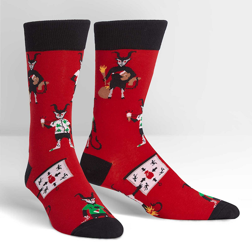 Vacation Krampus Crew Socks