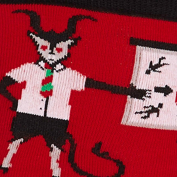 Vacation Krampus Crew Socks by Sock It to Me : Cats Like Us