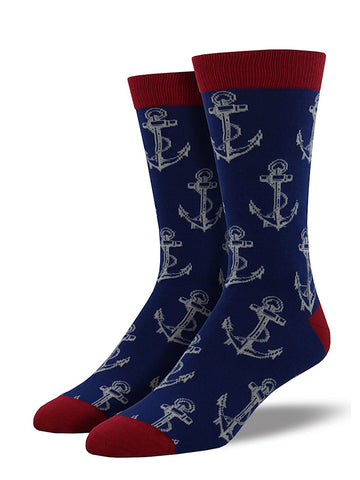Anchors Away Socks - Cats Like Us