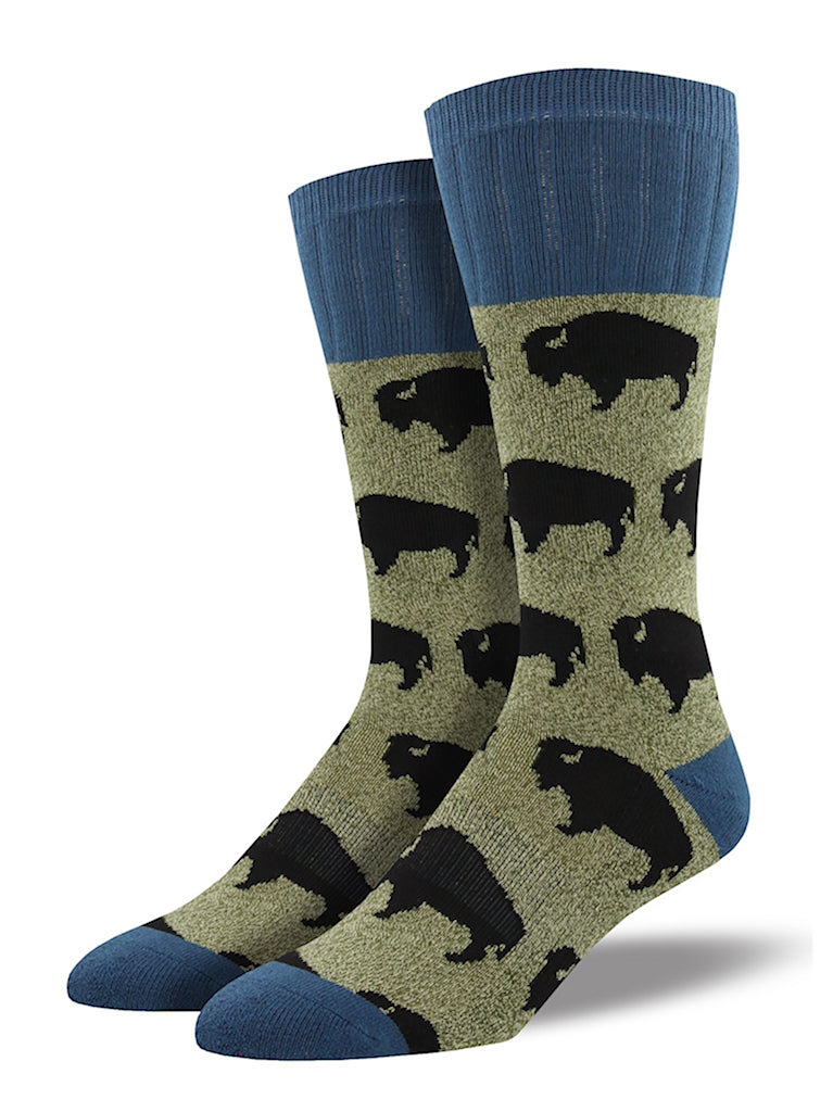 Buffalo Bison Toasty Socks by SockSmith : Cats Like Us