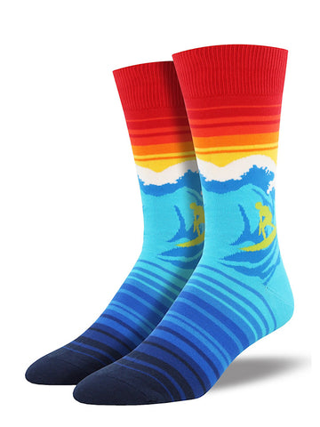 Catch a Wave Surf Socks by SockSmith : Cats Like Us