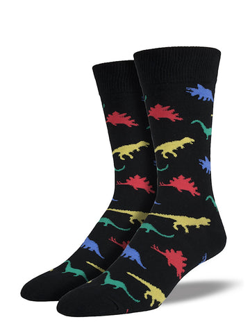Colorful Dinosaur Socks