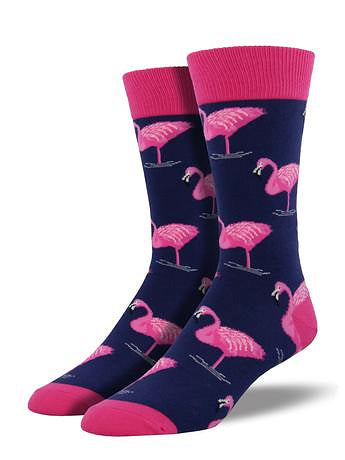 Flamingo Mens Socks by SockSmith : Cats Like Us