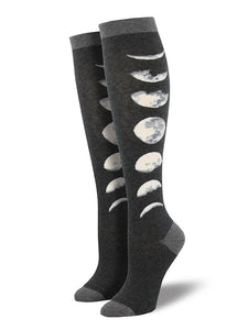 Just a Moon Phase Knee Socks