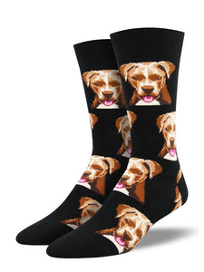 Pit Bull Doggo Socks by SockSmith : Cats Like Us