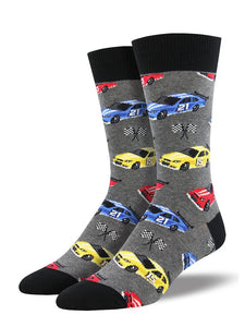 Pit Stop Race Car Socks by SockSmith : Cats Like Us