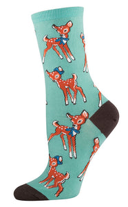 Retro Deer Fawn Socks - Cats Like Us