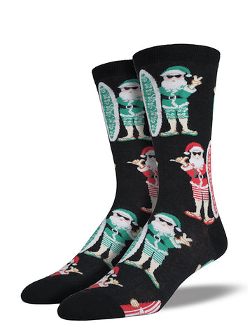 Surfin Santa Socks