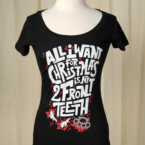 All I Want My Two Front Teeth T by Sourpuss Clothing : Cats Like Us