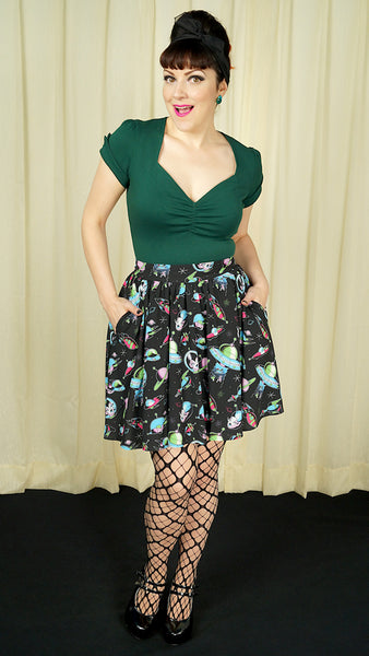 Astro Space Babes Skirt by Sourpuss Clothing - Cats Like Us