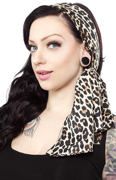 Bad Girl Leopard Scarf Sash by Sourpuss Clothing - Cats Like Us