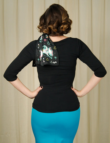 Black Audrey Ballerina Top by Sourpuss Clothing - Cats Like Us