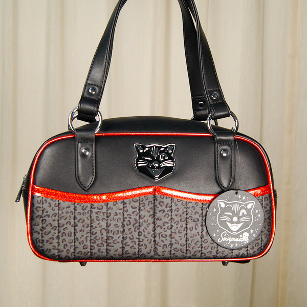 Black Cat Tessa Handbag by Sourpuss Clothing - Cats Like Us