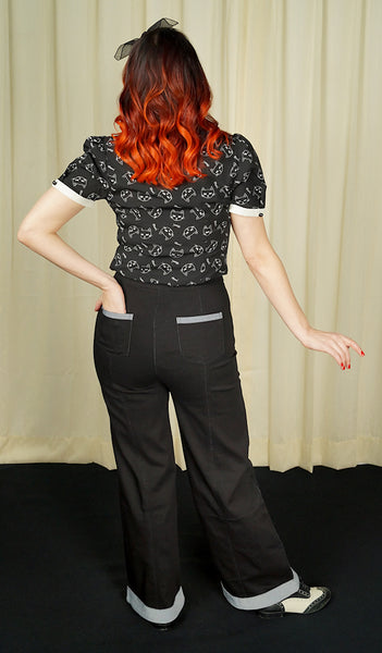 Black Sailor Pants by Sourpuss Clothing : Cats Like Us