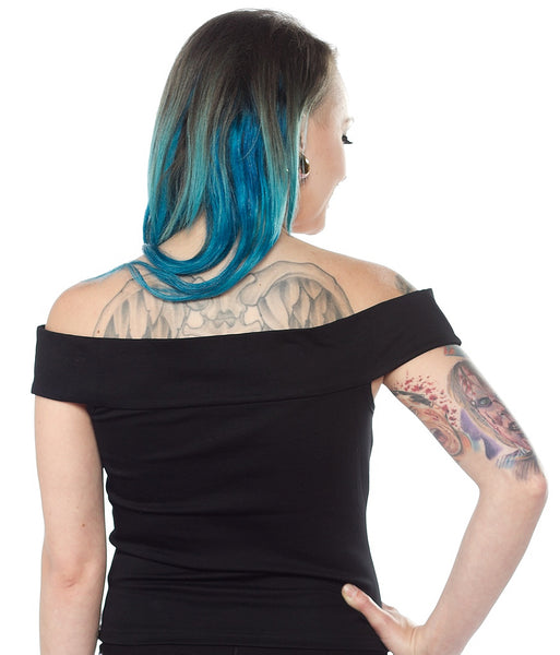 Black Sandy Top by Sourpuss Clothing : Cats Like Us