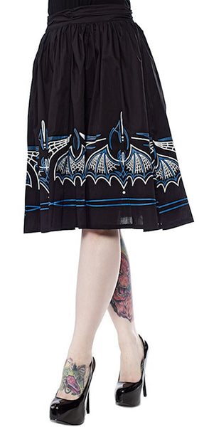 Blue Batty Pinstripe Skirt