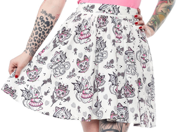 Creep Heart Cat Swing Skirt by Sourpuss Clothing : Cats Like Us