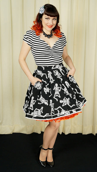 Dancing Skeleton Skirt by Sourpuss Clothing : Cats Like Us