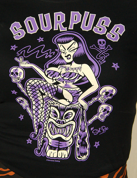 Jungle Princess Tiki T Shirt by Sourpuss Clothing : Cats Like Us