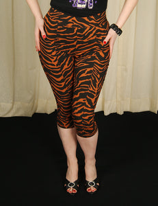 Tiger Peggy Capri Pants by Sourpuss Clothing : Cats Like Us