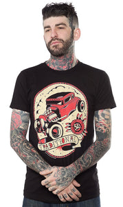 Traditional Hot Rod T Shirt by Sourpuss Clothing : Cats Like Us