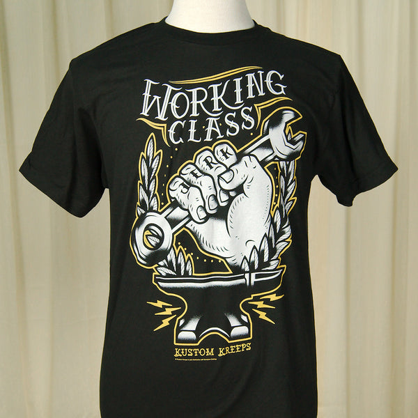 Sourpuss Clothing Working Class T Shirt for sale at Cats Like Us - 3