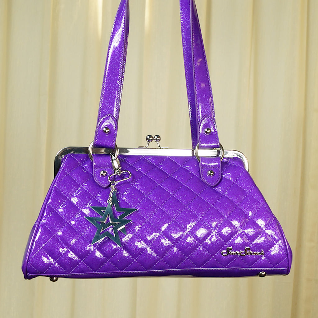 Purple Cosmic Handbag - Cats Like Us
