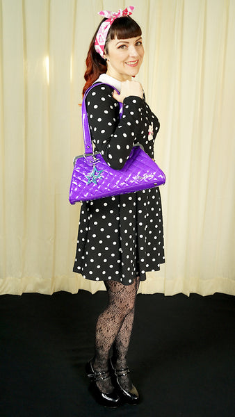Purple Cosmic Handbag by Star Struck Clothing : Cats Like Us