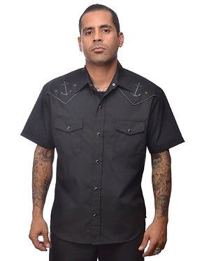 Anchored Western Shirt by Steady Clothing - Cats Like Us