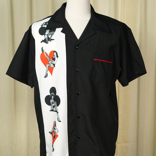 Bettie Page Card Suit Shirt by Steady Clothing - Cats Like Us