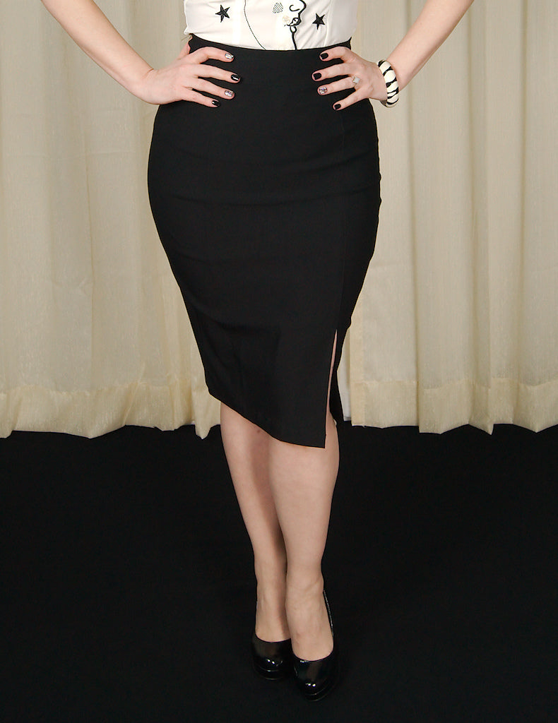 Black Cora Pencil Skirt