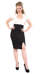 Black Cora Pencil Skirt by Steady Clothing - Cats Like Us