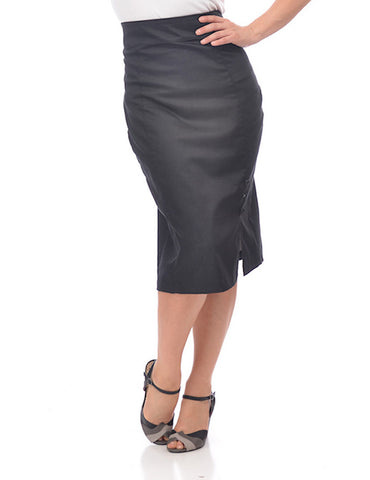 Black Denim Pencil Skirt by Steady Clothing - Cats Like Us
