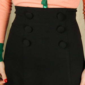 Black Nora Fit & Flare Skirt by Steady Clothing : Cats Like Us