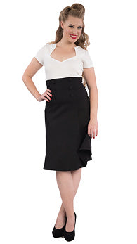 Black Nora Fit & Flare Skirt - Cats Like Us