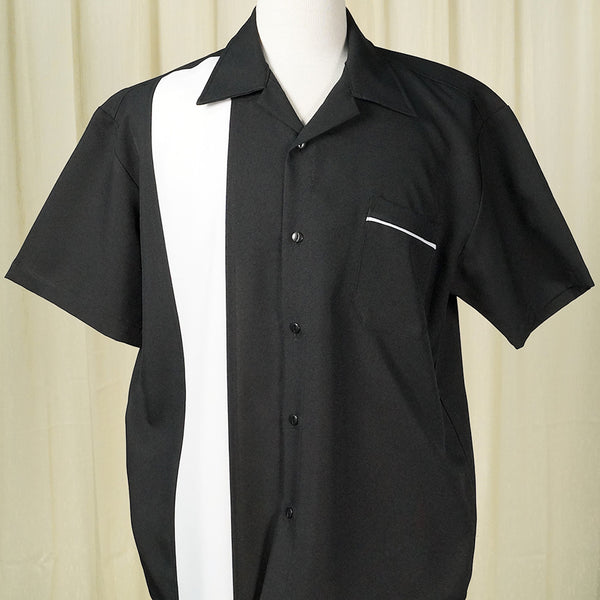 Black Single Bowling Shirt