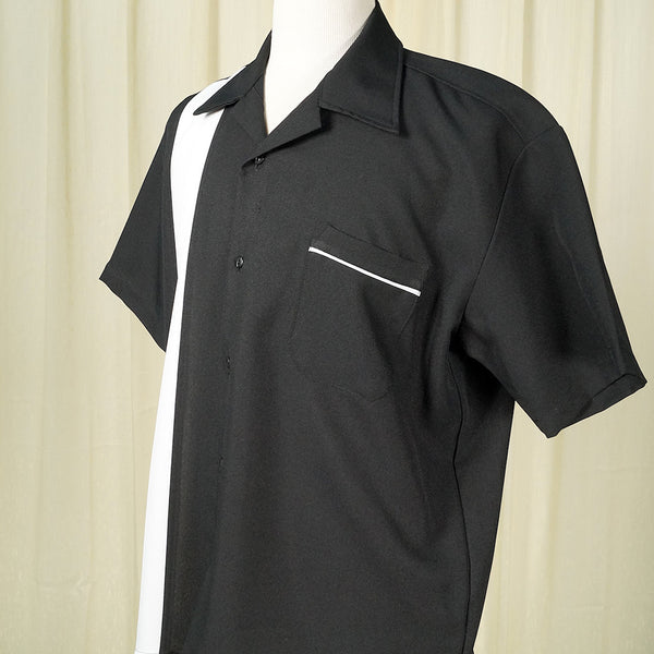Black Single Bowling Shirt by Steady Clothing : Cats Like Us