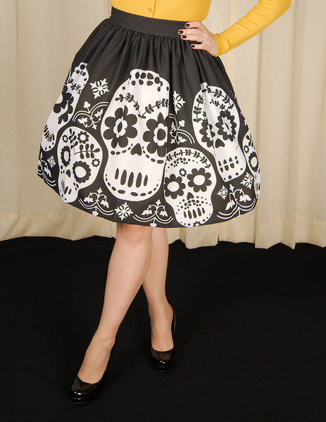 Dia de Los Muertos Skull Skirt by Steady Clothing : Cats Like Us