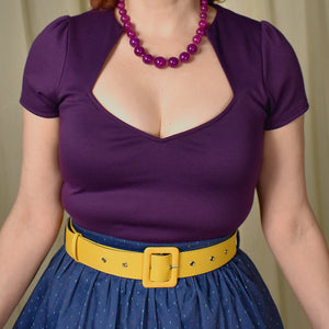 Eggplant Sexy Sophia Top - Cats Like Us