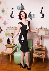 Emily Flounce Wiggle Dress - Cats Like Us