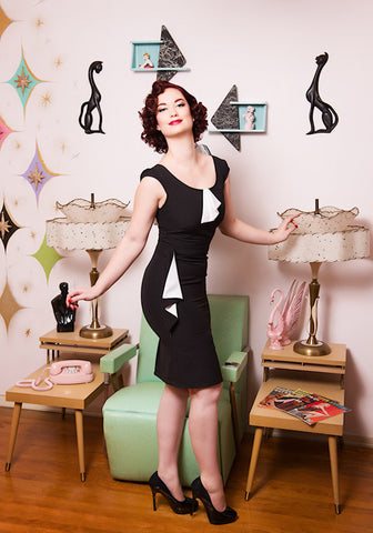 Emily Flounce Wiggle Dress by Steady Clothing : Cats Like Us